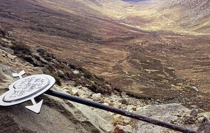 Sign marking Mourne engagement removed by angry walker