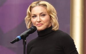 Madonna appears unhappy with that planned biopic