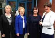 "Arlene Foster left feeling ""uplifted"" after meeting Irish language pupils"