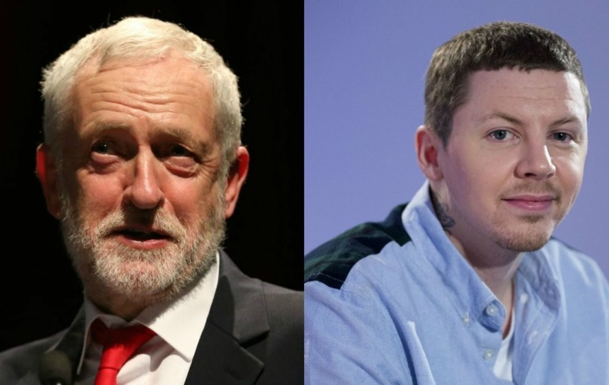 Professor Green urges fans to support Jeremy Corbyn in election