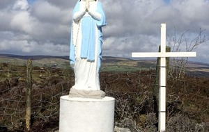Virgin Mary statue put up at site of Co Tyrone Mass rock