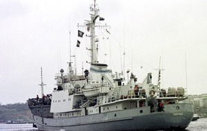 Russian reconnaissance ship sinks after Black Sea collision