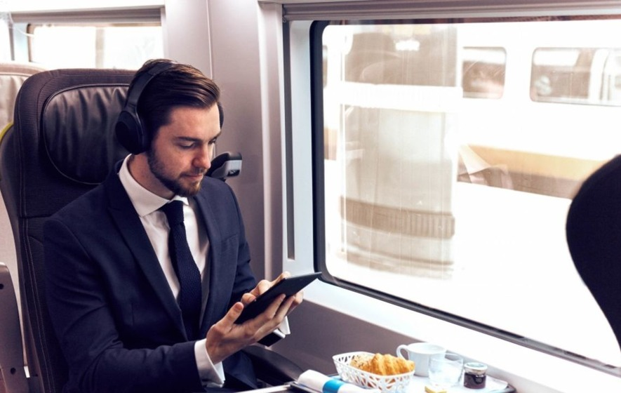 Sony and Eurostar have launched a 'Sound Menu' to help relax passengers