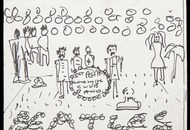 Beatles Sgt Pepper's album cover sketch reputedly drawn by John Lennon to go under the hammer in the US