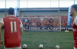 Does Mesut Ozil have what it takes with his weaker foot in this tyre challenge?