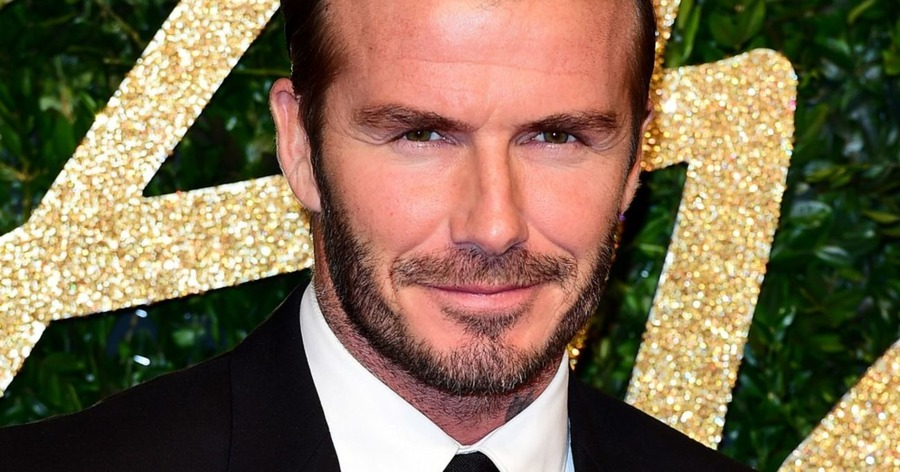 See David Beckham in armour for the King Arthur movie