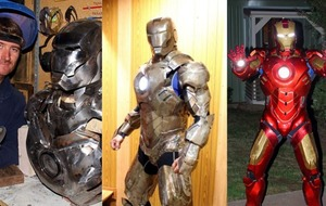 This former soldier built an exquisite Iron Man suit from steel to entertain sick children