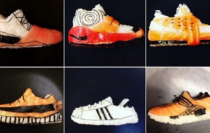 This chef creates incredible replicas of sportsmen, film stars and shoes out of sushi