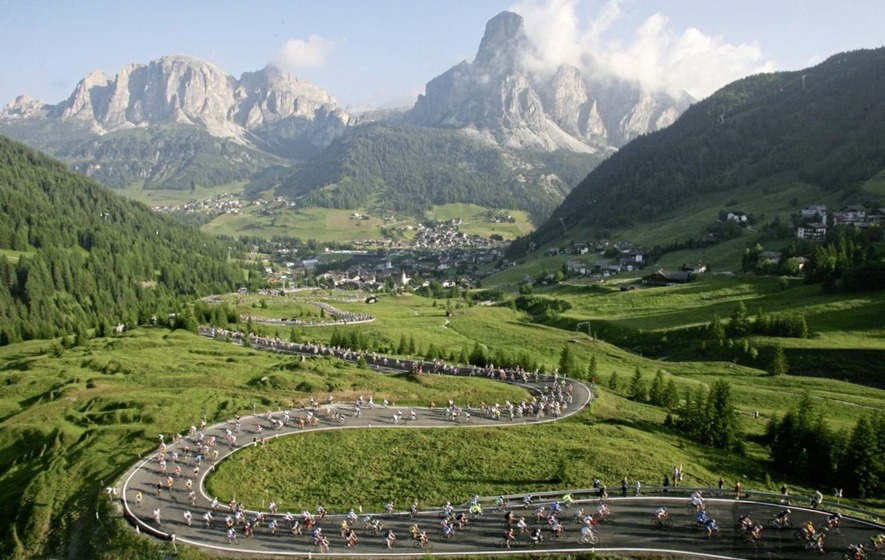 Riding high in South Tyrol to celebrate 100th birthday of the Giro d'Italia
