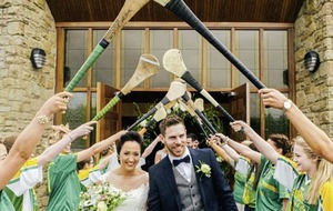 Wedding day for Antrim hurler Neil McManus and camog Aileen Martin