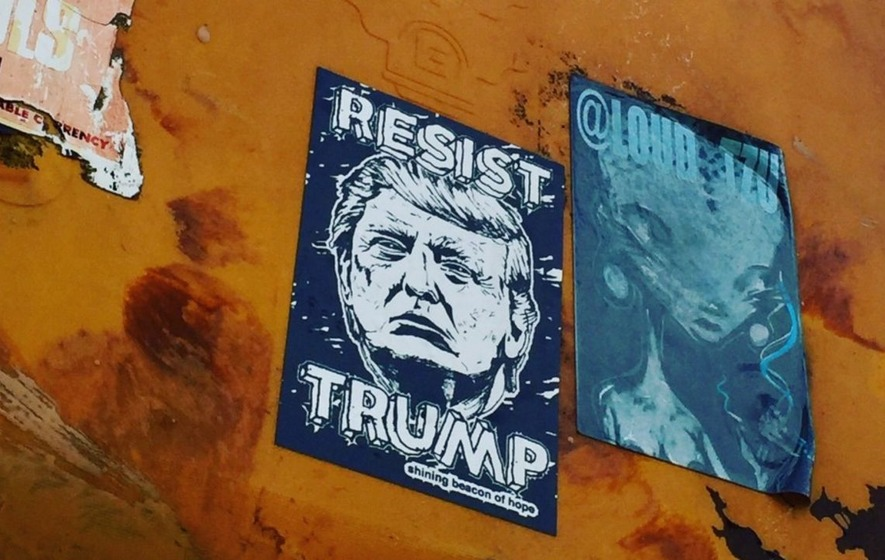 This New Yorker is trying to document every anti-Trump poster in his city