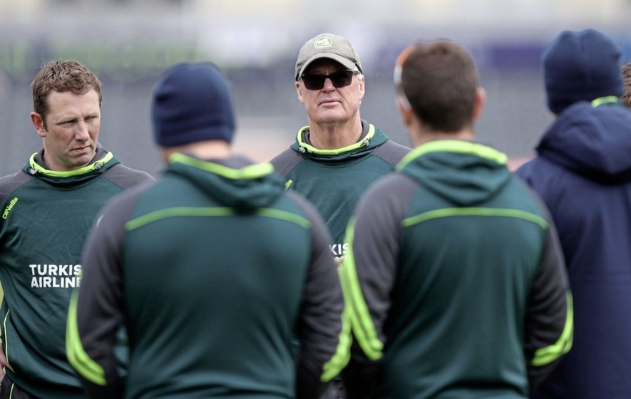 Ireland cricketers play first ever international fixture against England