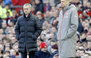 Manchester United manager Jose Mourinho claims he has no problems with Arsene Wenger