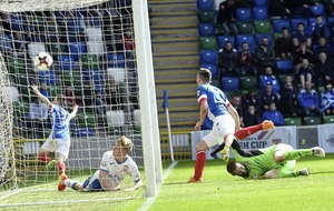 Linfield's hat-trick hero Andy is Waterworth his weight in goals