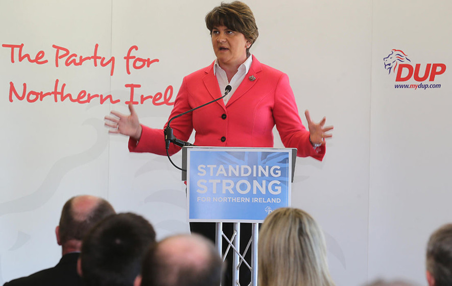DUP leader Arlene Foster has not ruled out Irish language act