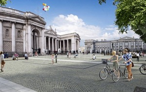 Pedestrianised zone in Dublin city centre designed to host public events for up to 15,000 people