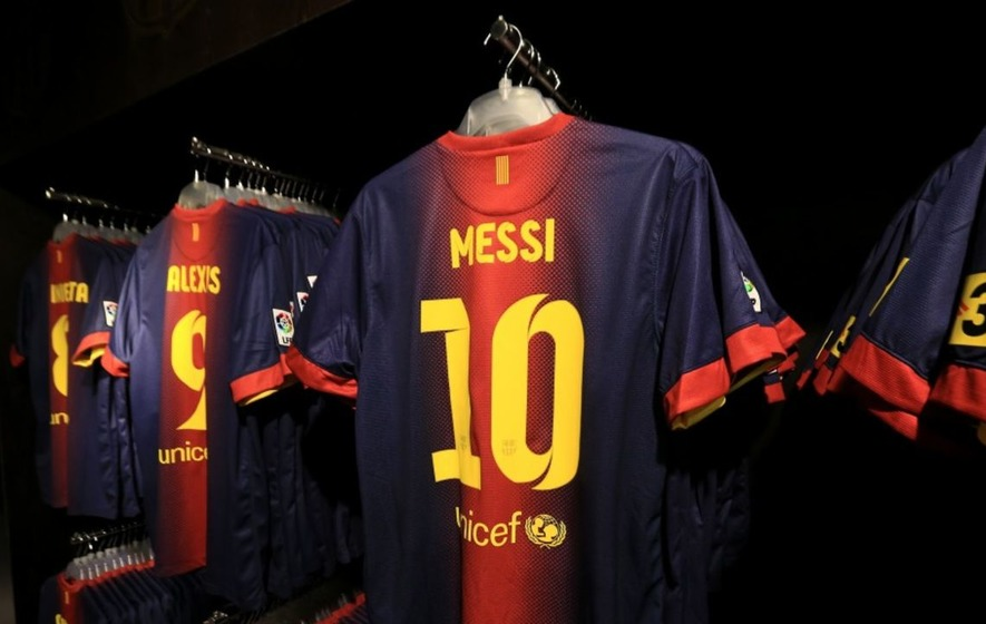 Lionel Messi's room full of swapped shirts is world class just like him