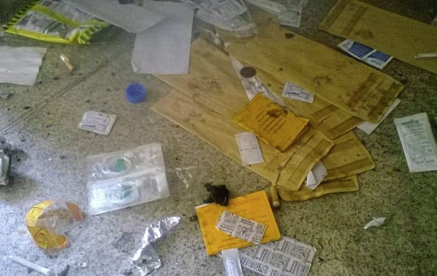 Photos show extent of drug use taking place in communal hallways of west Belfast flats