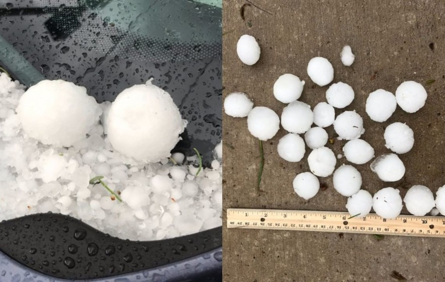 Colorado has been hit by hailstones the size of golf balls