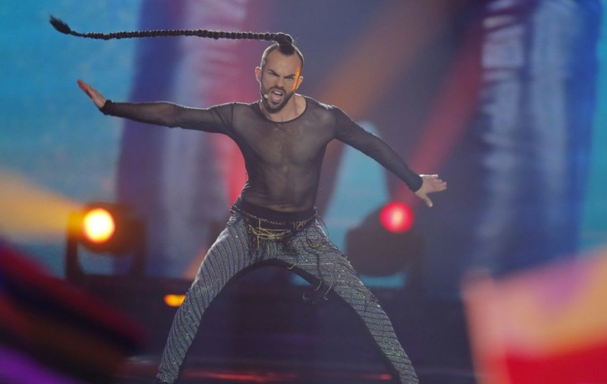 Montenegro's hair-spinning Slavko was robbed, Eurovision fans complain