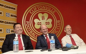 Barry Gray is unveiled as new manager of Cliftonville