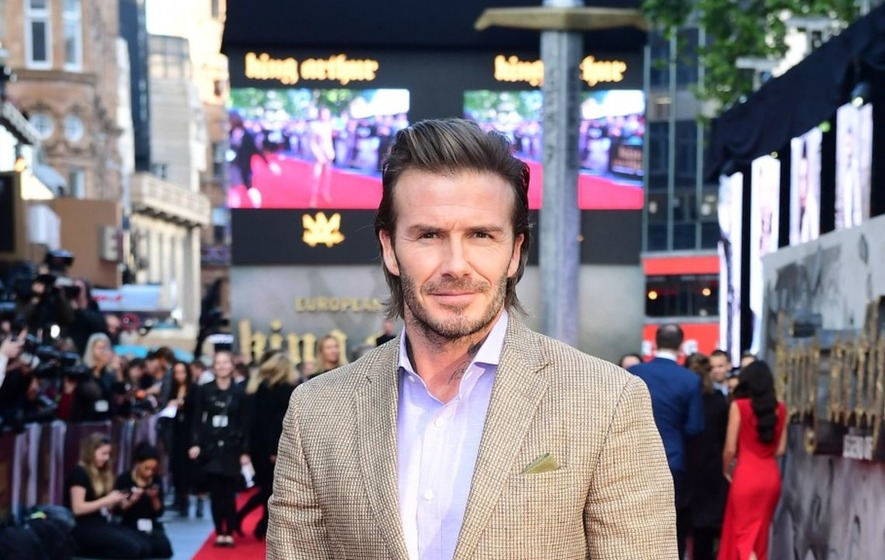 David Beckham's acting defended by King Arthur co-star Charlie Hunnam at European premiere