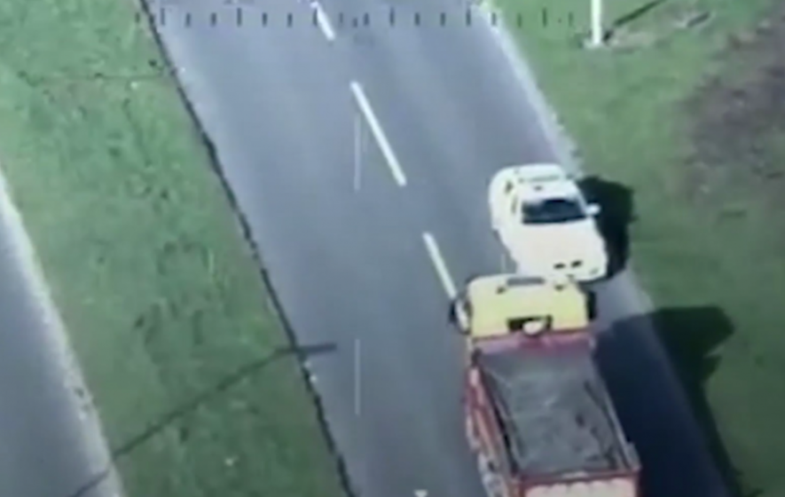 A man who drove a 32-tonne tipper truck the wrong way down a dual carriageway has been jailed