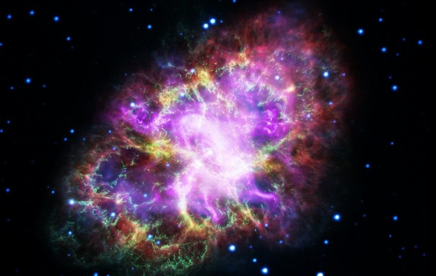 Prepare to be amazed by this spectacular photo of the Crab Nebula that was created using five different telescopes