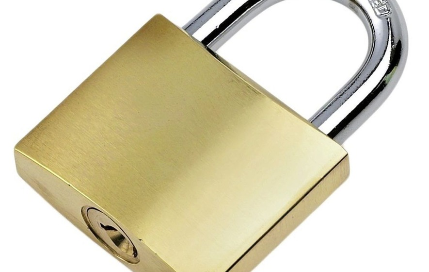 This is one big padlock that might not keep you safe . . .