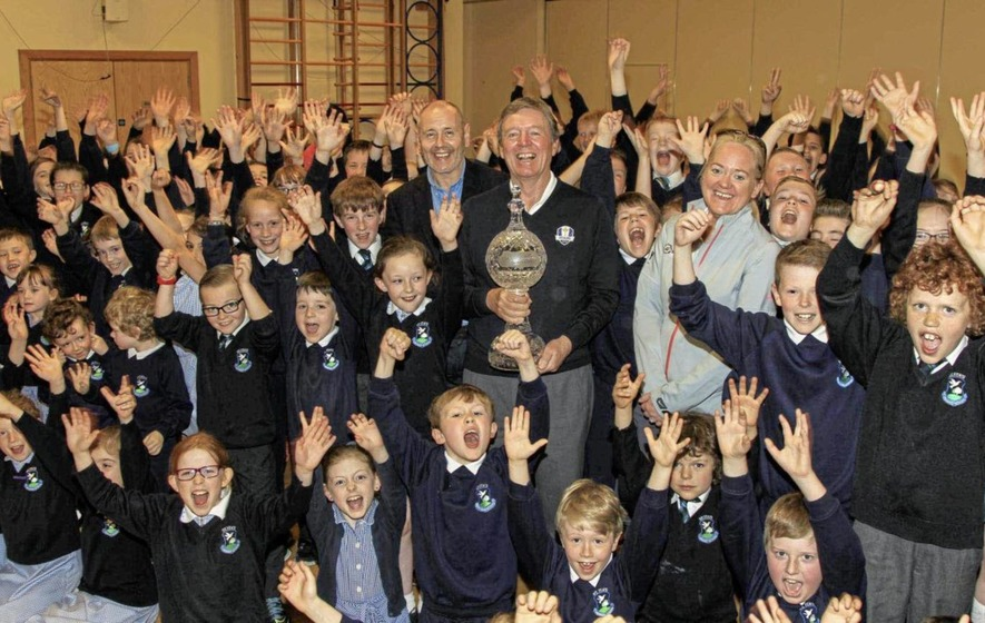 Kids urged to 'Roar for Rory' for chance to get their hands on Irish Open golf trophy