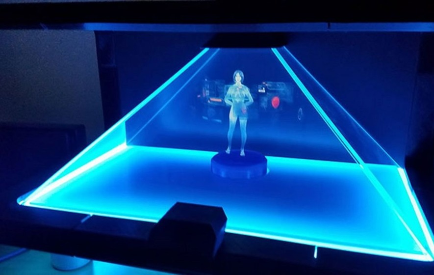 Some genius built a hologram version of Microsoft's Cortana virtual assistant