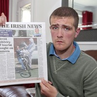 West Belfast man says he is living in fear after being wrongly accused over street robbery of tourist