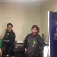 Video: Here are two essential angles of Chelsea's Antonio Conte's post-match celebratory soaking