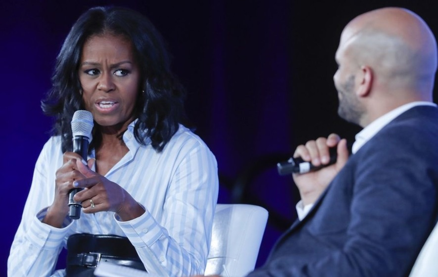 'What is wrong with you?': Michelle Obama hits out at Donald Trump's changes to her healthy school lunches