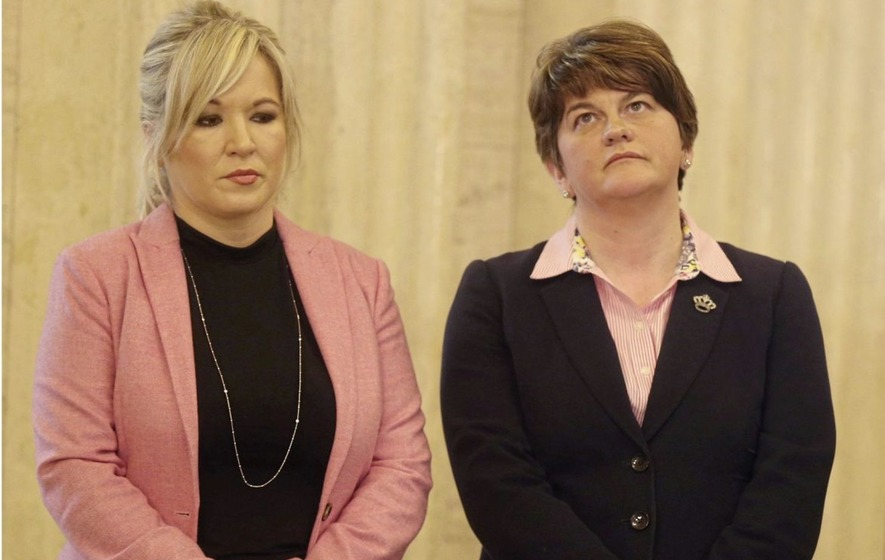 DUP leader Arlene Foster accused of 'trivialising women in politics' after describing Michelle O'Neill as 'blonde'