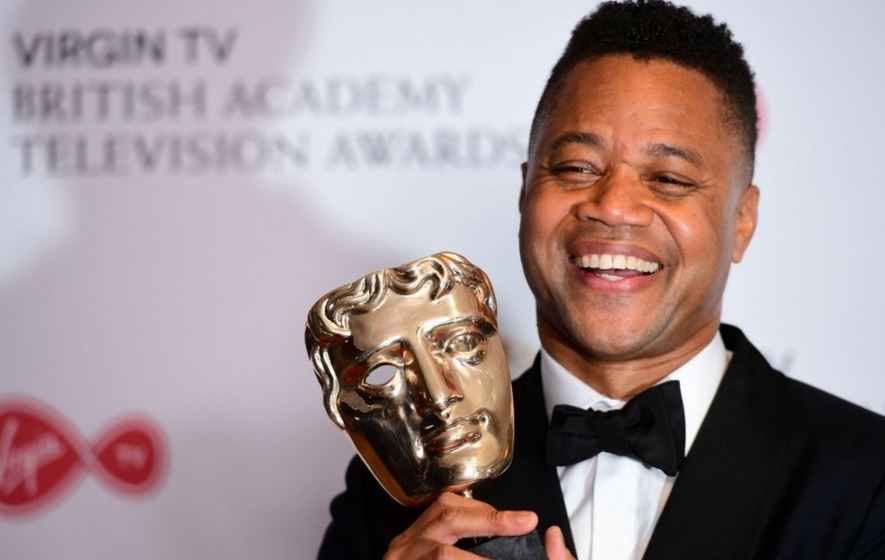 Cuba Gooding Jr overwhelmed to be 'accepting gold' at Bafta TV Awards