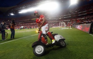 This moped featured heavily in Benfica's league-winning celebrations