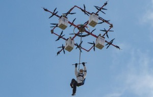 Watch the first ever skydive from a drone