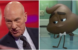 Emoji Movie trailer features Sir Patrick Stewart as a pile of talking poo