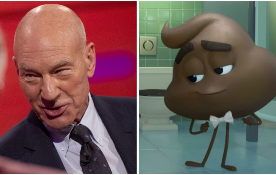 Emoji Movie trailer features Sir Patrick Stewart as a pile of talking poo