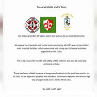 West Belfast GAA clubs plea after increase in anti-social behaviour