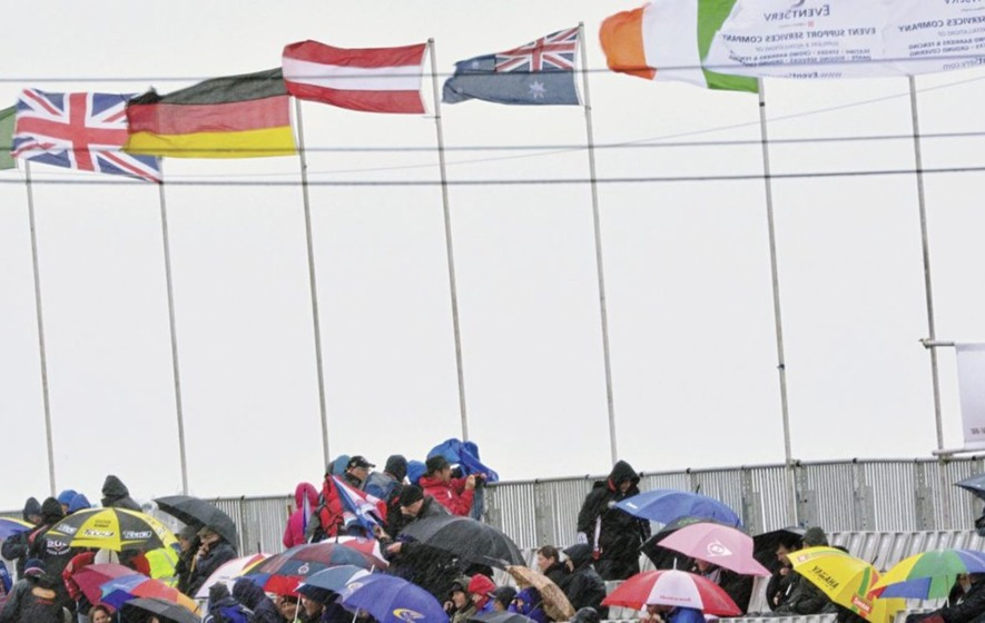 Tricolours stolen at North West 200