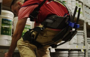Prototype exosuits help warehouse workers lift heavy objects