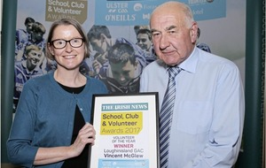 'Mr Loughinisland' Vincent McGlew scoops Volunteer Award at Irish News bash