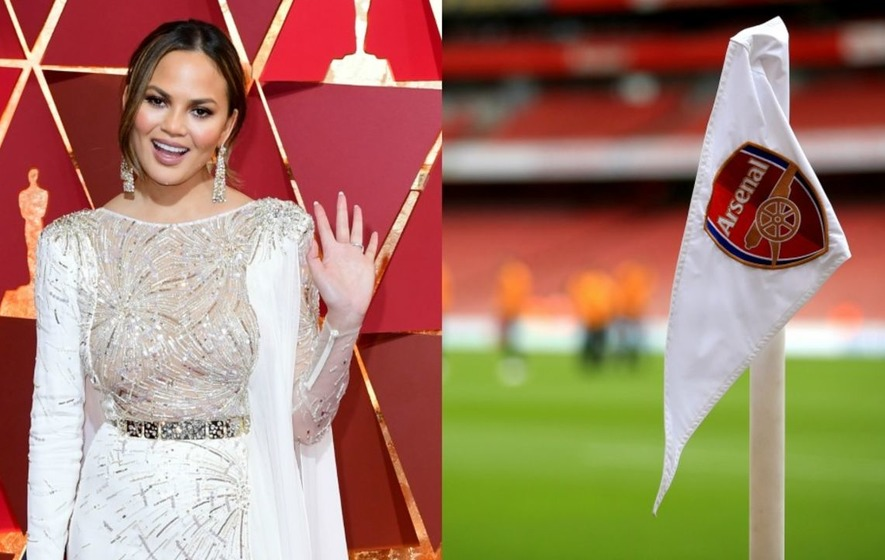 Chrissy Teigen has just discovered a famous Arsenal fan argument and can't believe what she's seen