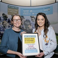 Volunteer of the Year Sarah Bloomfield throws heart and soul into coaching after illness cut short her playing career
