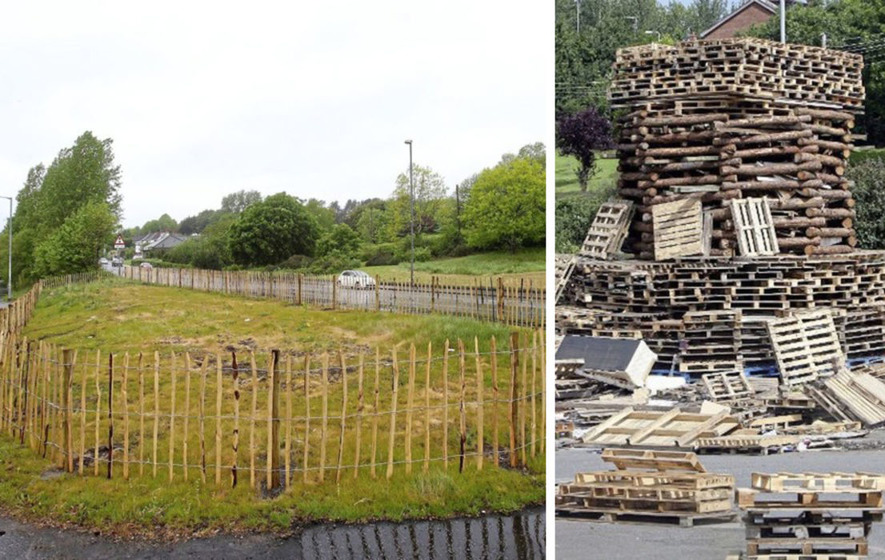 Fencing at Belfast bonfire site to stop fly-tipping cost public £2,400