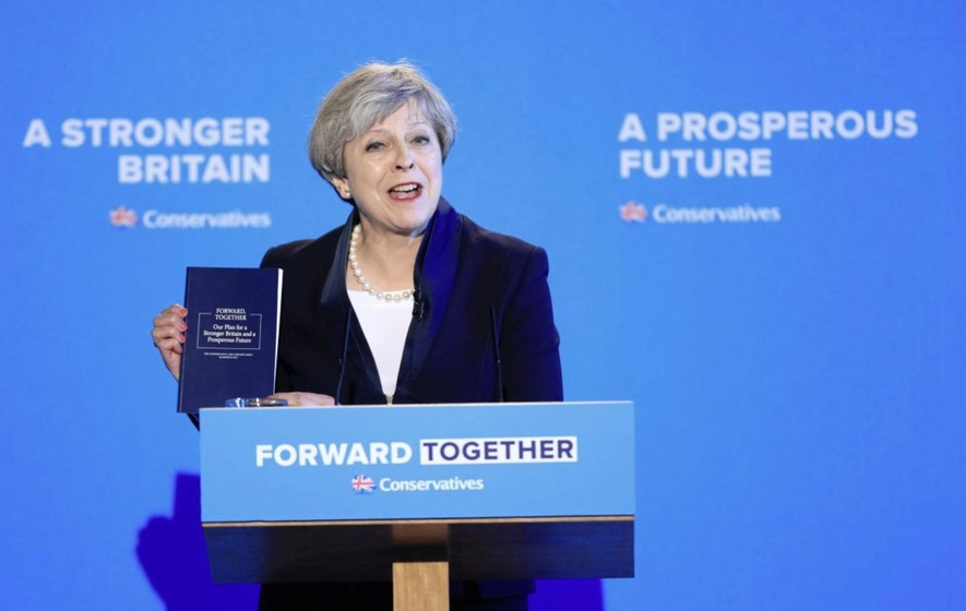 Theresa May vows to govern for 'mainstream Britain' as Conservative manifesto launched