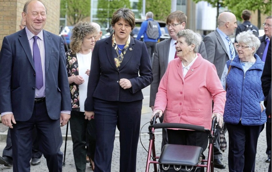Arlene Foster meets Kingsmill massacre families as inquest continues