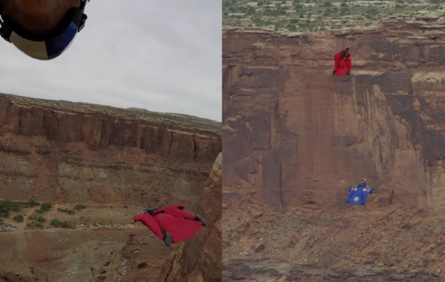 How do they fly so high? Wingsuit pilots get a ridiculous amount of air diving into canyon